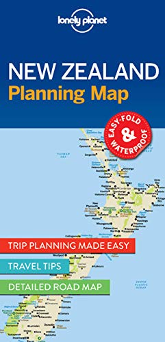 Lonely Planet New Zealand Planning Map: Lonely Planet