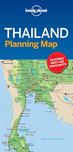 9781787014558: Lonely Planet Thailand Planning Map (Planning Maps)