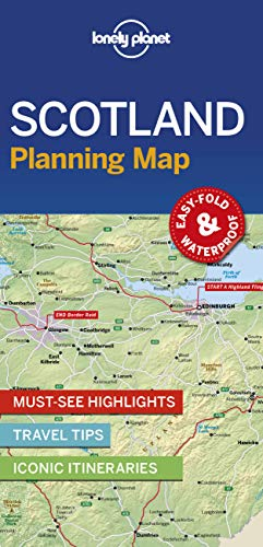 9781788686051: Lonely Planet Scotland Planning Map