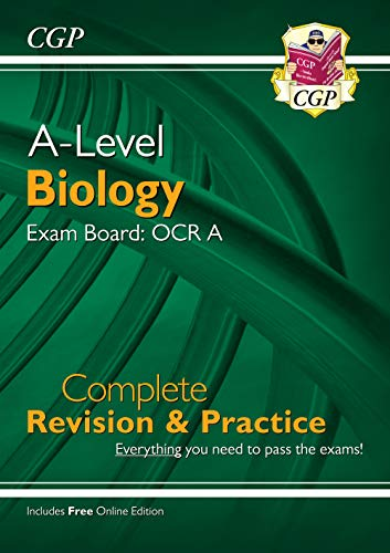 9781789080353: New A-Level Biology: OCR A Year 1 & 2 Complete Revision & Practice with Online Edition (CGP A-Level Biology)