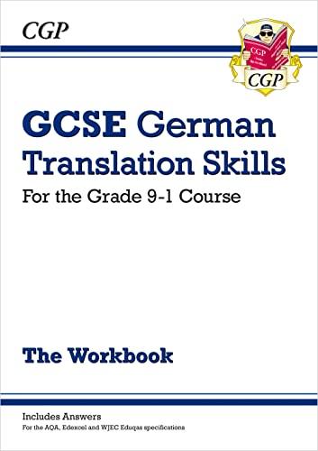 9781789080506: New Grade 9-1 GCSE German Translation Skills Workbook (includes Answers) (CGP GCSE German 9-1 Revision)