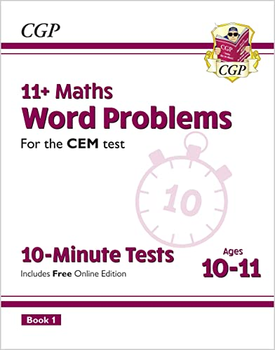 9781789081817: 11+ CEM 10-Minute Tests: Maths Word Problems - Ages 10-11 Book 1 (with Online Edition) (CGP 11+ CEM)