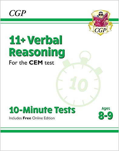 9781789081930: New 11+ CEM 10-Minute Tests: Verbal Reasoning - Ages 8-9 (with Online Edition) (CGP 11+ CEM)