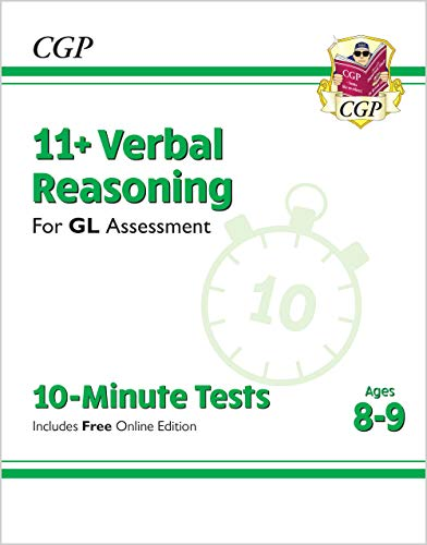 9781789083071: New 11+ GL 10-Minute Tests: Verbal Reasoning - Ages 8-9 (with Online Edition) (CGP 11+ GL)