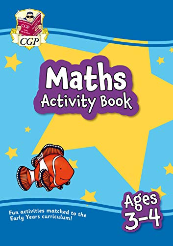 9781789086058: New Maths Home Learning Activity Book for Ages 3-4 (CGP Primary Fun Home Learning Activity Books)