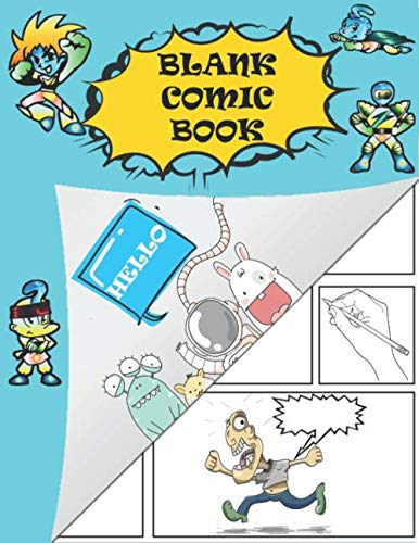 """9781790483426: Blank Comic Book: Draw your own Comics (Large 8.5"""" x 11"""", 130 Pages, Ten Stories)"""