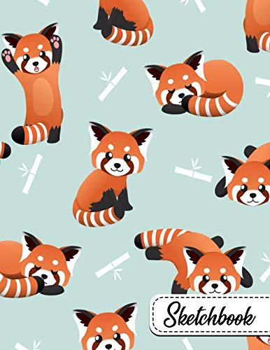 9781791706173: Sketchbook: Pretty Bamboo Red Panda Bears Large Blank Sketchbook with Ample Crisp White Pages for Drawing, Sketching, Doodling and More. Cute Extra Large XL Notebook with a Softback Cover.