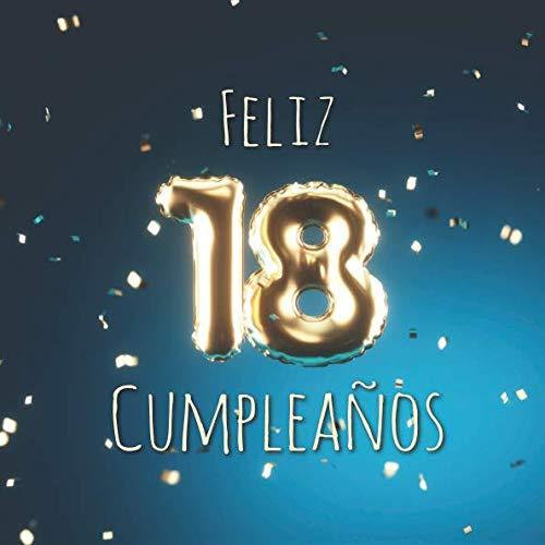 9781791864385: Feliz 18 Cumpleaños: Libro de visitas con 110 páginas - Couverture Globos Oro-Azul