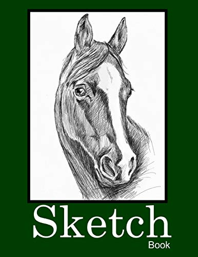 9781794573420: Sketchbook: Blank pages notebook, white paper best for pencil, crayons, colored pencils, pastel and charcoal - Horse head