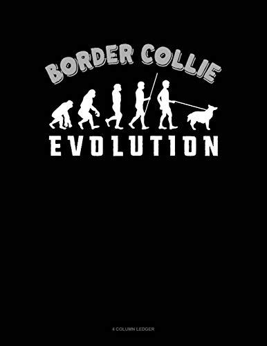 Border Collie Evolution: 4 Column Ledger (Paperback): Jeryx Publishing