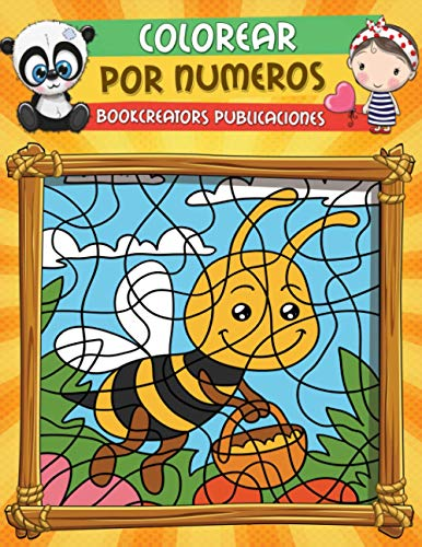 9781795861083: Colorear por Numeros: Libro de Actividades Para colorear Para niños (Flores, Animales, Niños y Más)