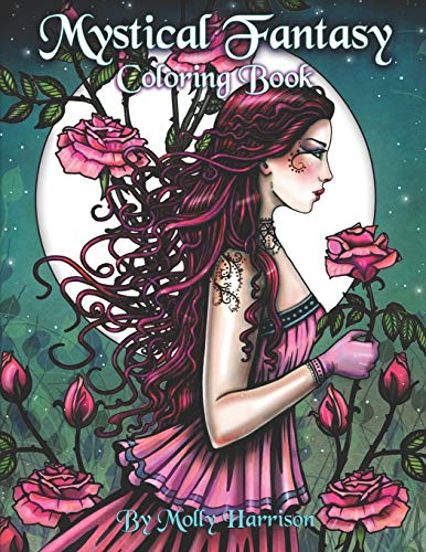 9781796221039: Mystical Fantasy Coloring Book: Coloring for Adults - Beautiful Fairies, Dragons, Unicorns, Mermaids and More!