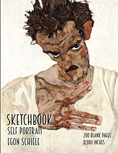 9781798164587: Sketchbook - Self Portrait - Egon Schiele: 200 Blank Pages - 8.5x11 Inches