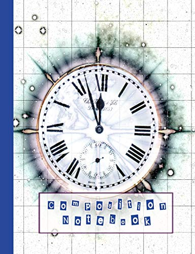 """9781798462195: Composition notebook: Composition notebook for the space and astronomy lover - wide ruled 7.44 x 9.69"""" - Graphical time and space image"""