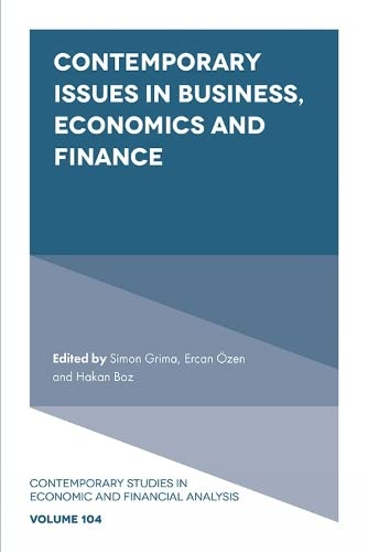 Contemporary Issues in Business, Economics and Finance: Edited by Simon