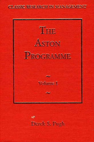 The Aston Programme (Classic Research in Management) (v. 1-3)