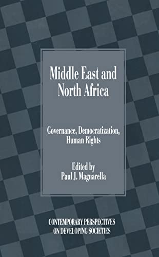 9781840149135: Middle East and North Africa: Governance, Democratization, Human Rights (Contemporary Perspectives on Developing Societies)