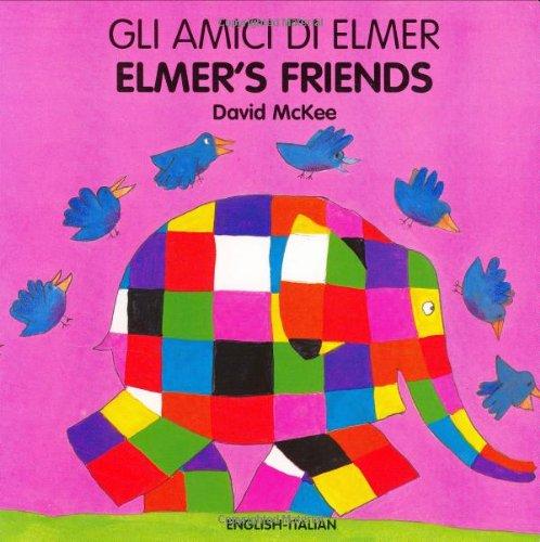 9781840594027: Elmer's Friends (arabic-english) (Elmer Board Books)