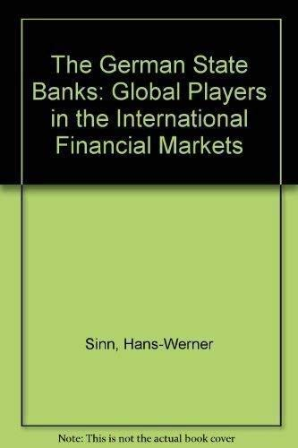 9781840640212: The German State Banks: Global Players in the International Financial Markets