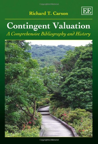 9781840647556: Contingent Valuation: A Comprehensive Bibliography and History