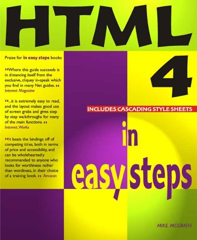 9781840780482: HTML 4 in Easy Steps