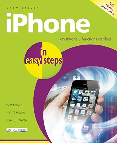 9781840785296: iPhone in Easy Steps: Covers iOS 6