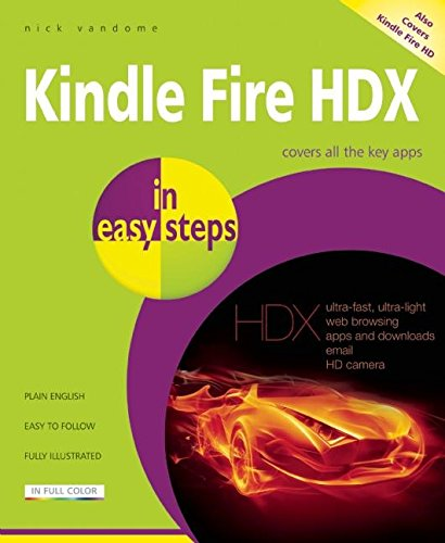 9781840786248: Kindle Fire HDX in easy steps