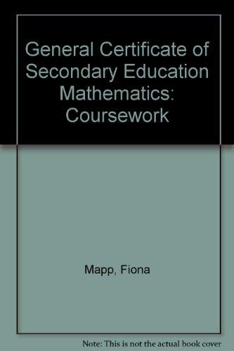 9781840850567: General Certificate of Secondary Education Mathematics: Coursework