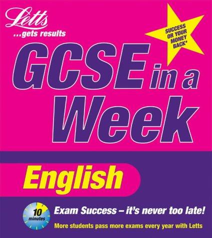 9781840853469: **OP**GCSE in a Week: English (Revise GCSE in a Week S.)