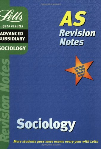 9781840855098: Sociology: AS Level Revision Notes (Letts revision notes)