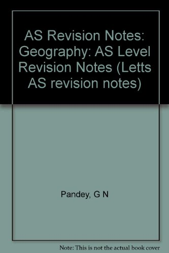 9781840855111: Geography: AS Level Revision Notes (Letts AS revision