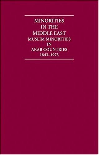 9781840971804: Minorities in the Middle East 4 Volume Hardback Set: Muslim Minorities in Arab Countries 1843-1973 (Cambridge Archive Editions)