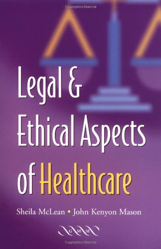 9781841101286: Legal and Ethical Aspects of Healthcare