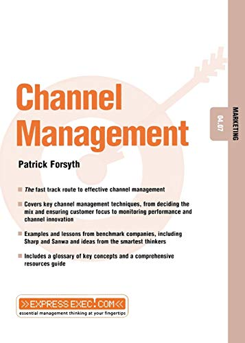 9781841121956: Channel Management: Marketing 04.07