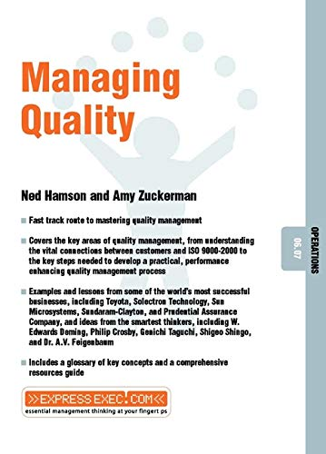 9781841122212: Managing Quality: Operations 06.07 (Express Exec)