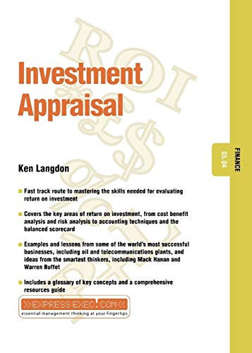 investment appraisal Description this book explains the process of property investment appraisal - estimating both the most likely selling price (market value) and the worth of property investments to individual or groups of investors (investment value.