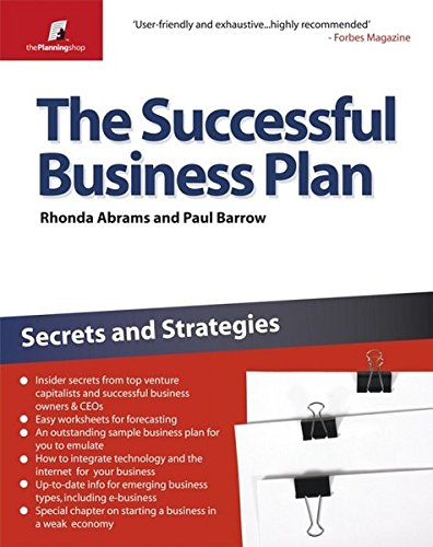 9781841128078: The Successful Business Plan: Secrets and Strategies (The Planning Shop Series)