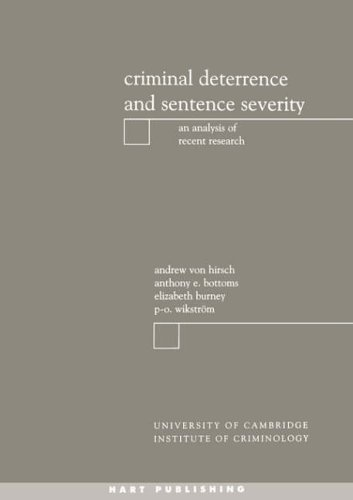 9781841130514: Criminal Deterrence and Sentence Severity