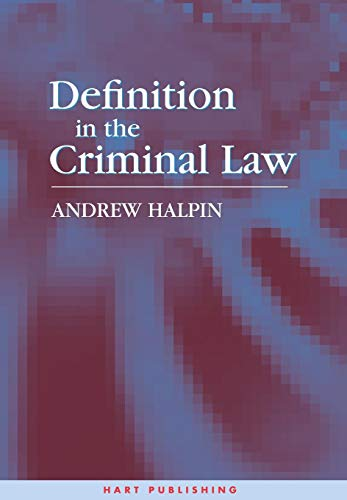 Definition in the Criminal Law: Halpin, Andrew