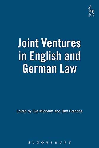 9781841131061: Joint Ventures in English and German Law