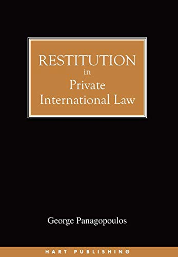 9781841131429: Restitution in Private International Law