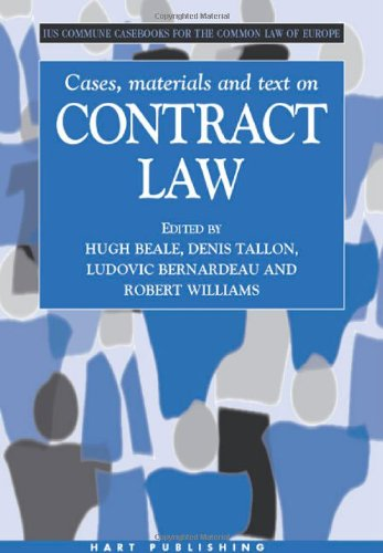 9781841132372: Cases, Materials and Text on Contract Law: Ius Commune Casebooks for the Common Law of Europe (Casebooks on the Common Law of Europe)