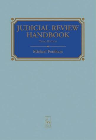 9781841132389: Judicial Review Handbook 3rd Edition