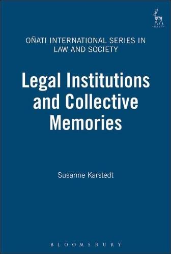 9781841133263: Legal Institutions and Collective Memories (Onati International Series in Law and Society)