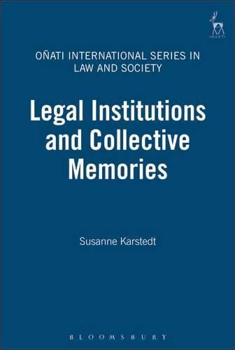9781841133270: Legal Institutions and Collective Memories (Onati International Series in Law and Society)