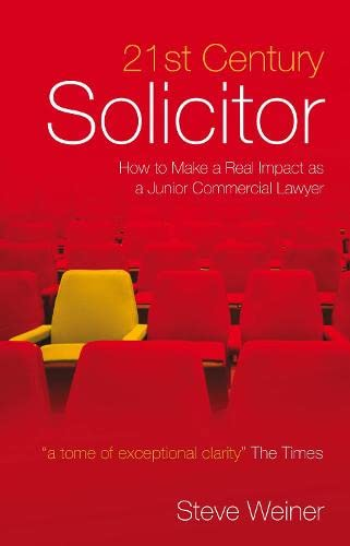 9781841133553: 21st Century Solicitor: How to Make a Real Impact as a Junior Commercial Lawyer