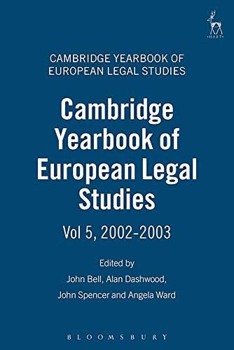 9781841133614: Cambridge Yearbook of European Legal Studies: Volume 5, 2002-2003