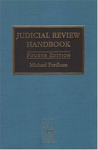 9781841134390: The Judicial Review Handbook: Fourth Edition - 2004
