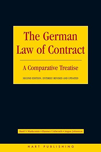 9781841134710: The German Law of Contract: A Comparative Treatise (Second Edition)