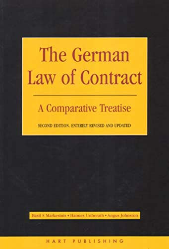 9781841134727: The German Law of Contract: A Comparative Treatise (Second Edition)